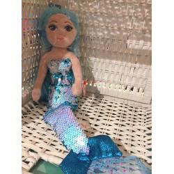 Mermaid Puppe mit Pailetten