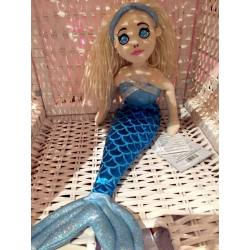 Mermaid Kuschelpuppe blau